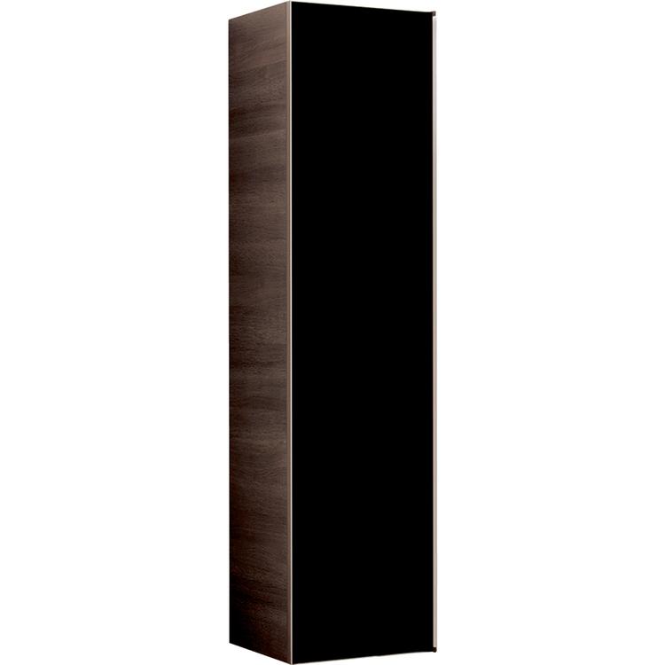 Geberit CITTERIO mobile verticale in finitura rovere con anta reversibile in vetro, corpo finitura rovere marrone fumè e ante colore nero/vetro lucido 500.554.JJ.1