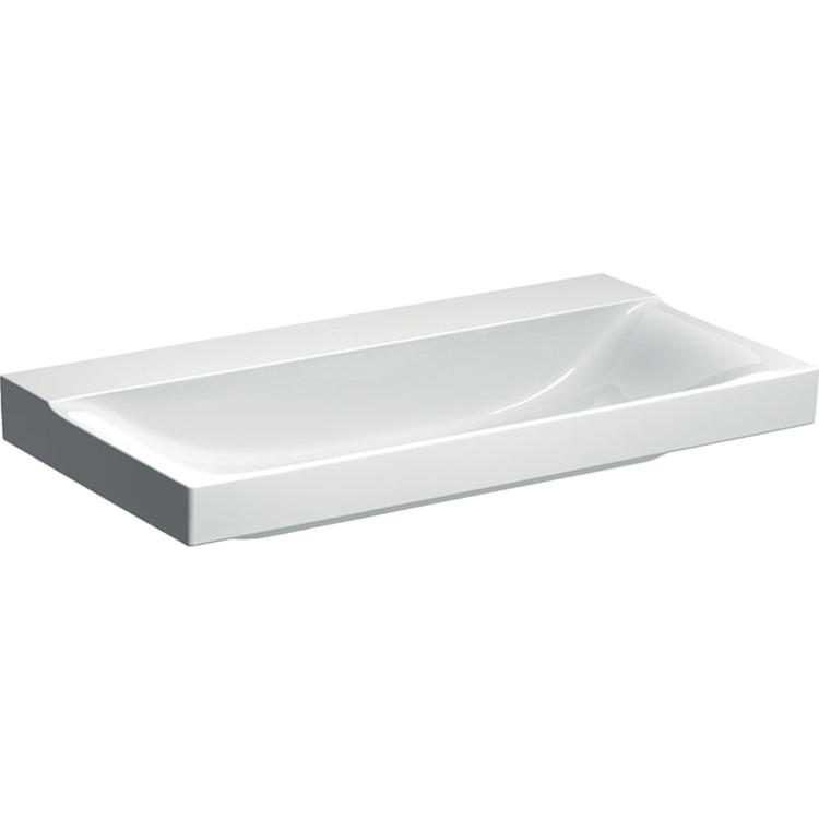 Geberit XENO² lavabo da 90 cm per rubinetteria senza foro, colore bianco/KeraTect e finitura lucido 500.532.01.1