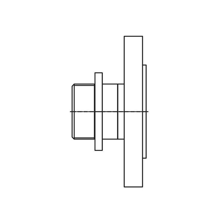"""Bosch Adattatore filetto maschio G2"""" per flangia DN50/PN16 per caldaie da 75 e 100 kW 7736603755"""