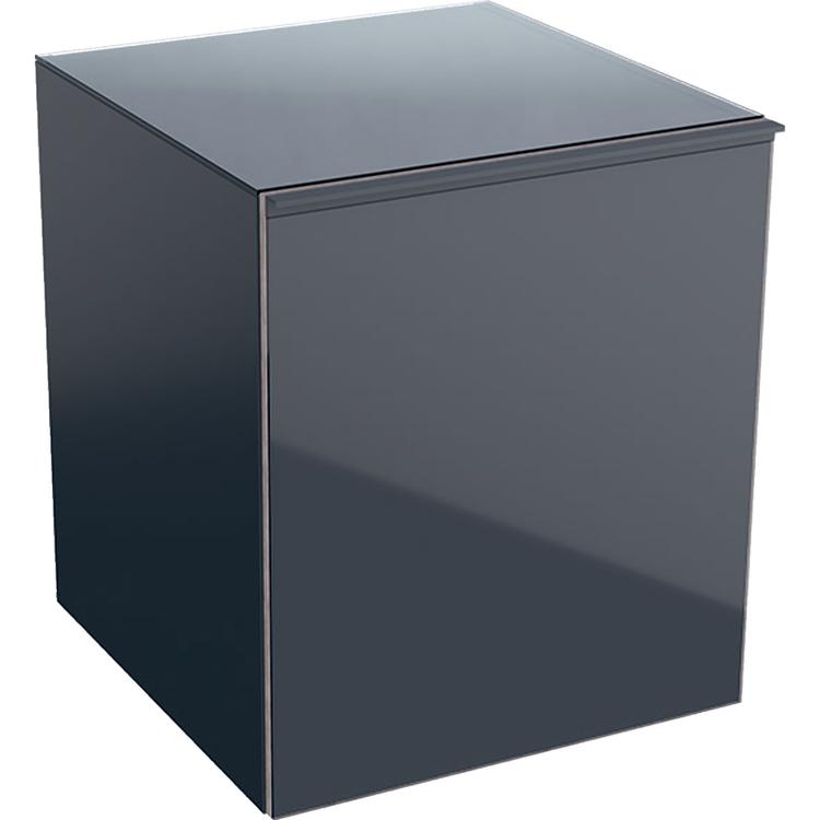 Geberit ACANTO mobile contenitore sospeso 45 cm con cassetto interno, corpo colore lava/opaco, cassetti lava/vetro lucido 500.618.JK.2