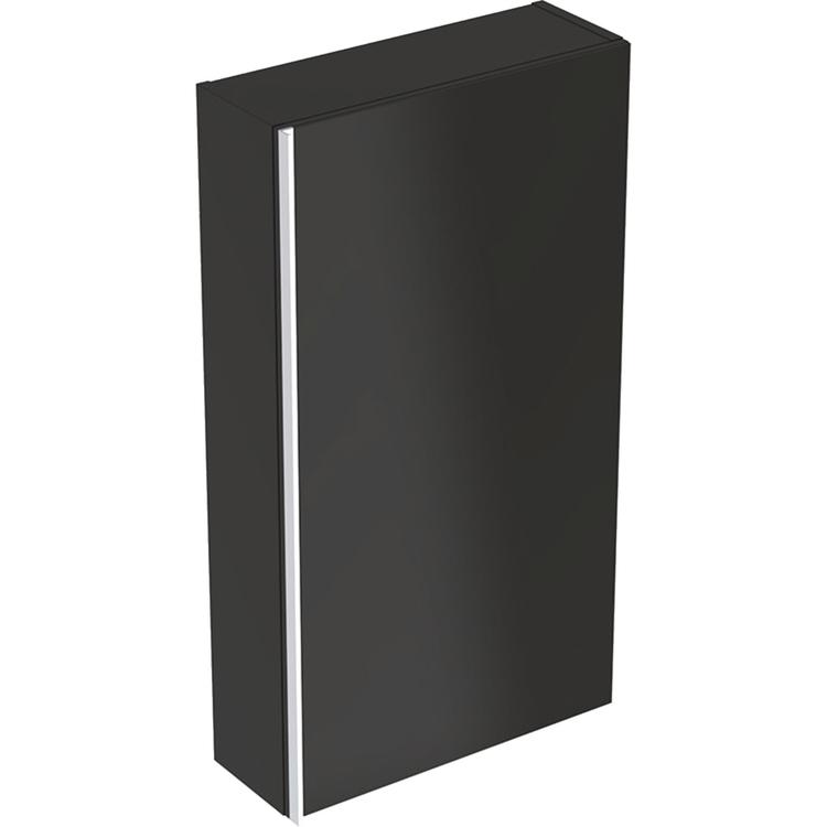 Geberit ACANTO mobile contenitore a parete piatto, H 83 cm, corpo colore lava/opaco, ante colore lava/vetro lucido 500.639.JK.2