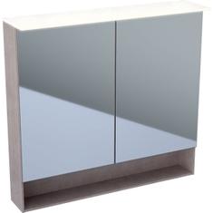 Immagine di Geberit ACANTO specchio contenitore 90 cm con illuminazione e due ante, finitura rovere mystic 500.646.00.2