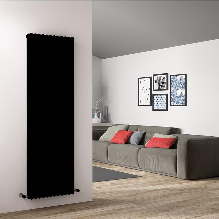 Irsap TESI 4 radiatore 14 elementi H.200 L.63 P.13,9cm, colore nero finitura lucido RT420001410IRNON
