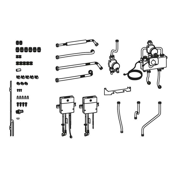 Bosch CS13 Kit collegamento idraulico verticale, con gestione di due circuiti addizionali di riscaldamento 7738112115