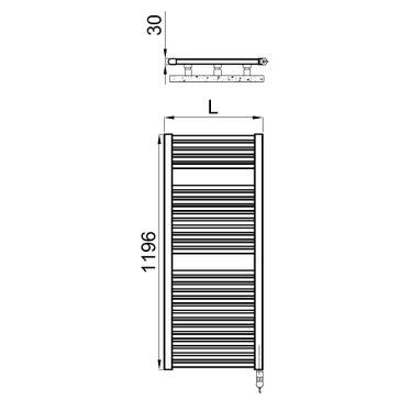 Irsap NOVO CROMATO ELETTRICO scaldasalviette 29 tubi H.119,6 L.50 P.3 cm con controllo elettronico (H),finitura cromo NLM050H50IR01NNN