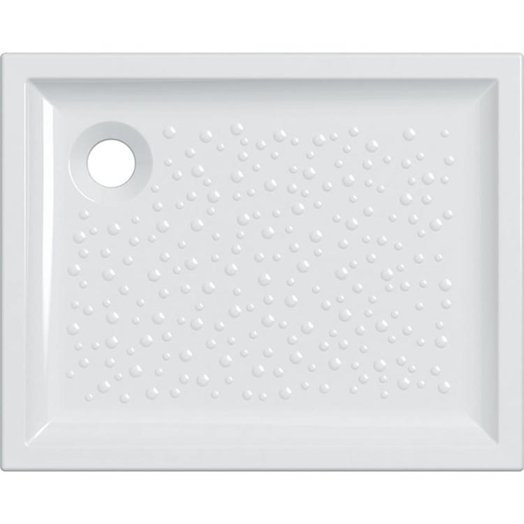Immagine di Geberit BASTIA piatto doccia rettangolare L.100 P.80 cm, colore bianco finitura lucido 00728200000001