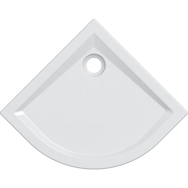 Geberit 60 piatto doccia angolare 80 cm, colore bianco e finitura lucido 550.038.00.1