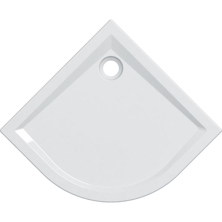 Geberit 60 piatto doccia angolare 90 cm, colore bianco e finitura lucido 550.039.00.1
