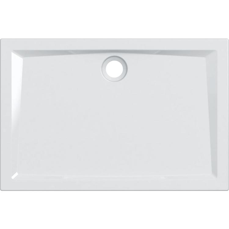 Geberit 60 piatto doccia rettangolare L.120 P.80 cm, colore bianco e finitura lucido 550.057.00.1