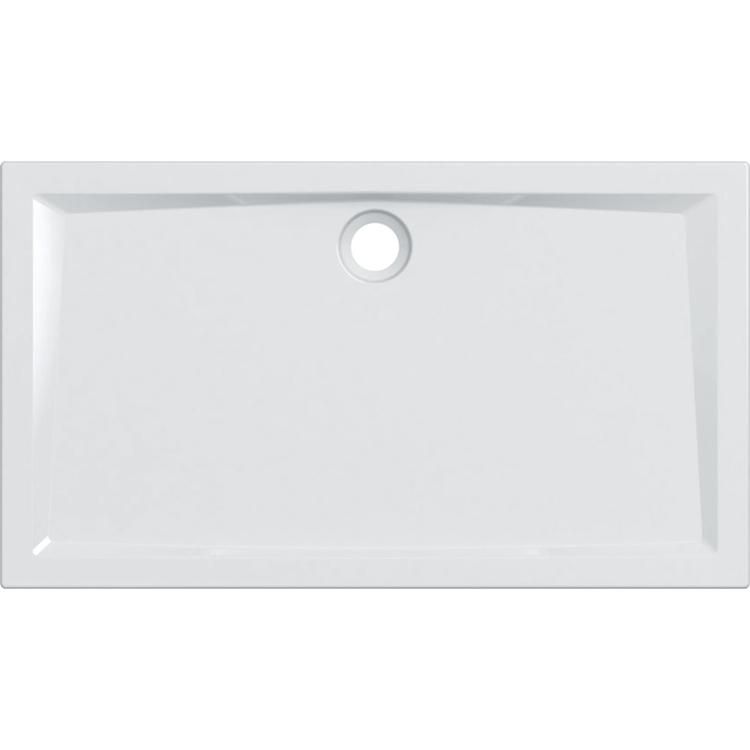 Geberit 60 piatto doccia rettangolare L.140 P.80 cm, colore bianco e finitura lucido 550.058.00.1