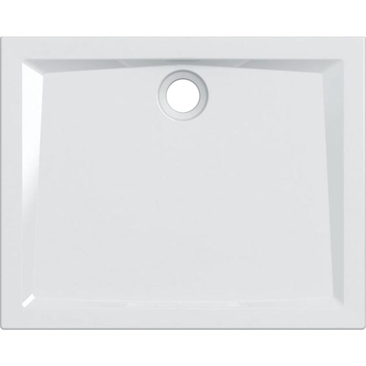 Geberit 60 piatto doccia rettangolare L.100 P.80 cm, colore bianco e finitura lucido 550.055.00.1