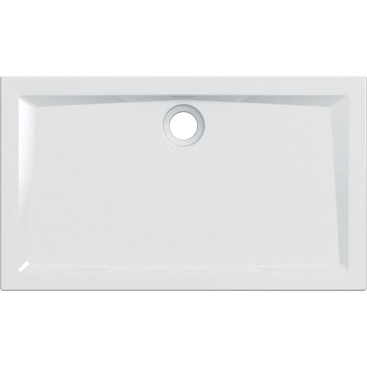 Geberit 60 piatto doccia rettangolare L.120 P.70 cm, colore bianco e finitura lucido 550.056.00.1