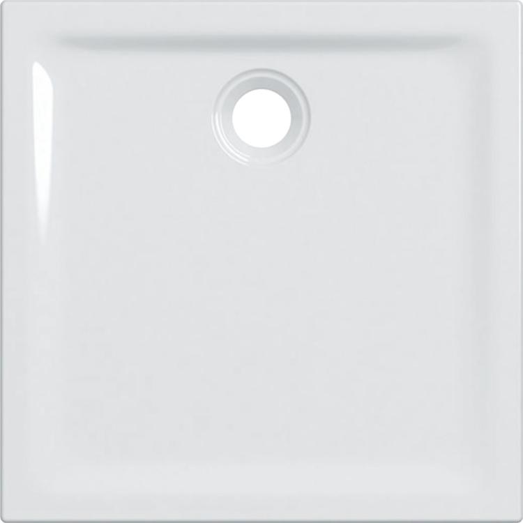 Geberit 45 piatto doccia quadrato 80 cm, colore bianco e finitura lucido 550.048.00.1