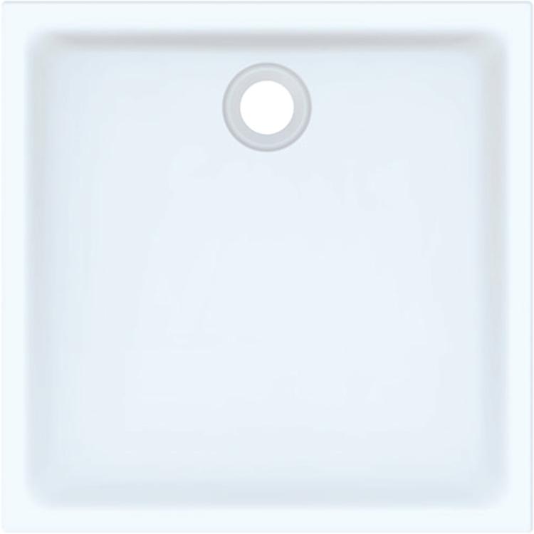 Geberit 45 piatto doccia quadrato 90 cm, colore bianco e finitura lucido 550.049.00.1