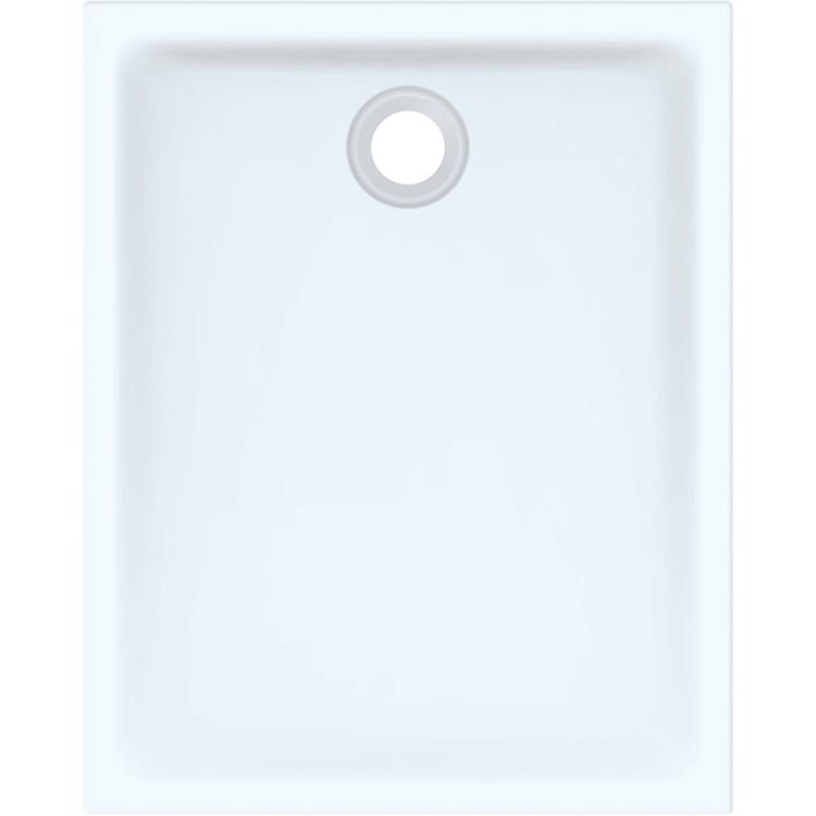 Immagine di Geberit 45 piatto doccia rettangolare L.80 P.100 cm, colore bianco finitura lucido 550.063.00.1