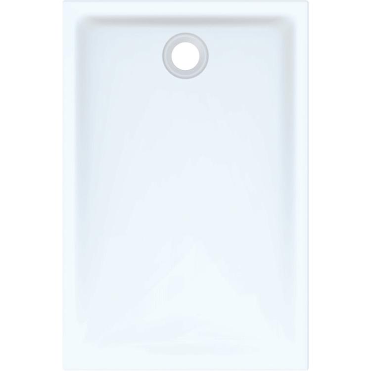 Geberit 45 piatto doccia rettangolare L.80 P.120 cm, colore bianco e finitura lucido 550.065.00.1