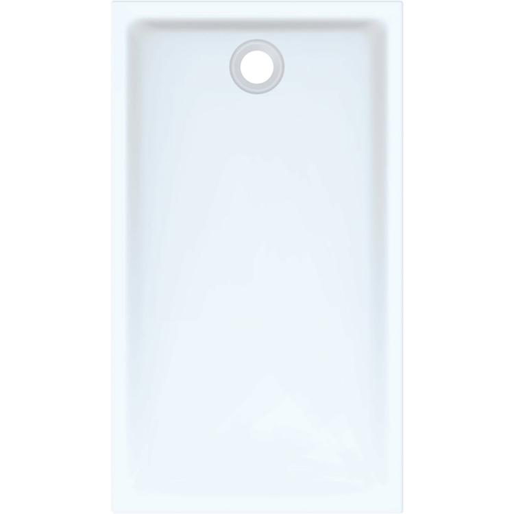 Geberit 45 piatto doccia rettangolare L.80 P.140 cm, colore bianco e finitura lucido 550.067.00.1