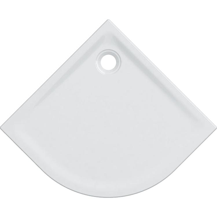 Geberit 45 piatto doccia angolare 90 cm, colore bianco e finitura lucido 550.069.00.1