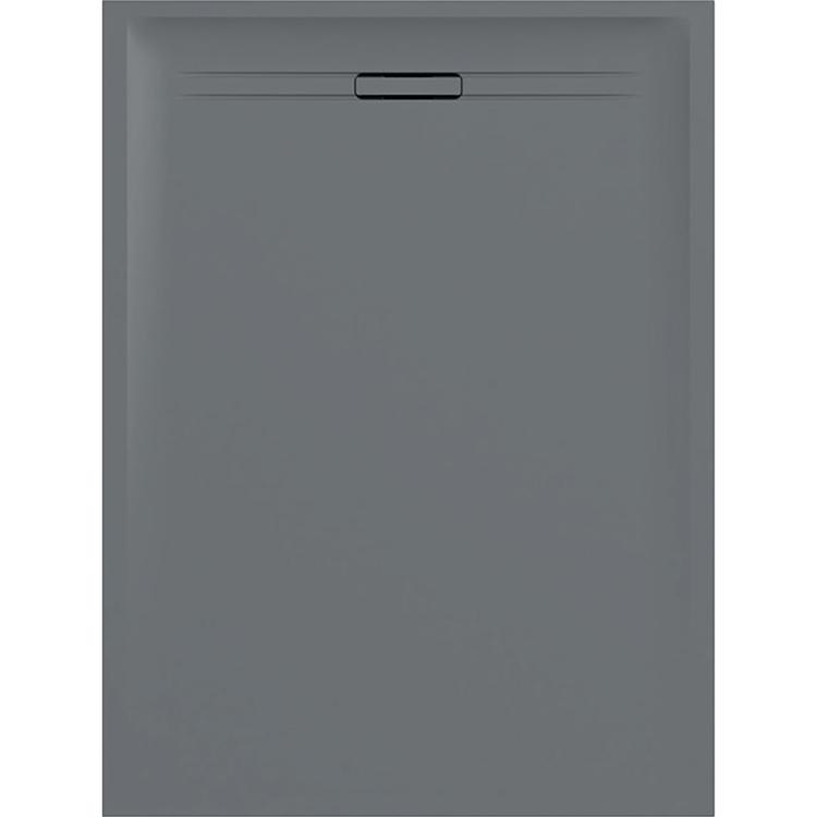 Geberit SESTRA piatto doccia rettangolare L.80 P.100 cm, colore grigio e finitura effetto pietra 550.262.00.1