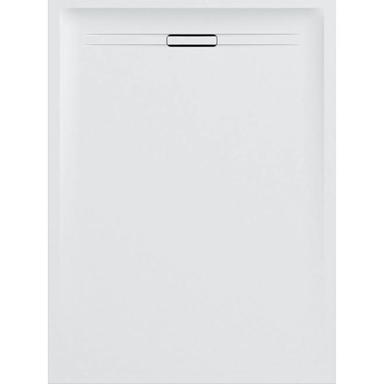 Geberit SESTRA piatto doccia rettangolare L.80 P.140 cm, colore bianco e finitura effetto pietra 550.256.00.1