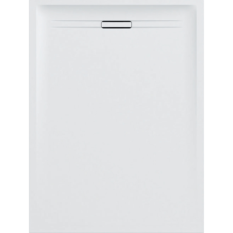 Geberit SESTRA piatto doccia rettangolare L.90 P.160 cm, colore bianco e finitura effetto pietra 550.259.00.1