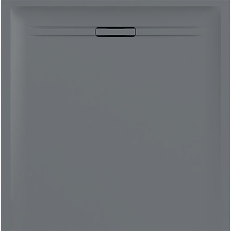 Geberit SESTRA piatto doccia quadrato 90 cm, colore grigio e finitura effetto pietra 550.260.00.1