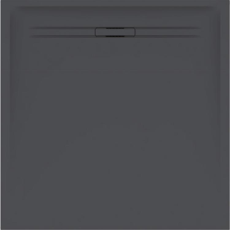 Geberit SESTRA piatto doccia quadrato 90 cm, colore grafite e finitura effetto pietra 550.270.00.1