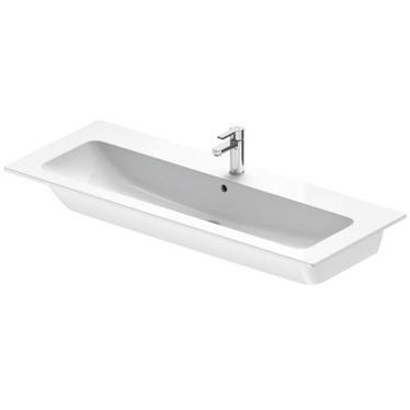 Duravit ME BY STARCK lavabo consolle 123 cm monoforo, con troppopieno, con bordo per rubinetteria, colore bianco finitura opaco 2361123200