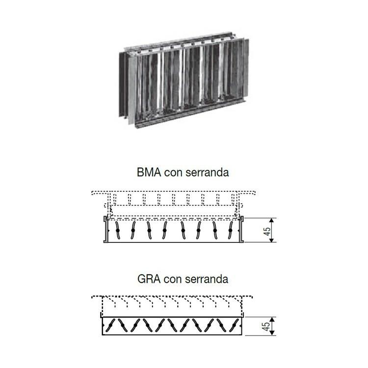 Irsap Serranda di taratura manuale 400x100 per bocchette di mandata BMA e ripresa GRA TLZSER0401000
