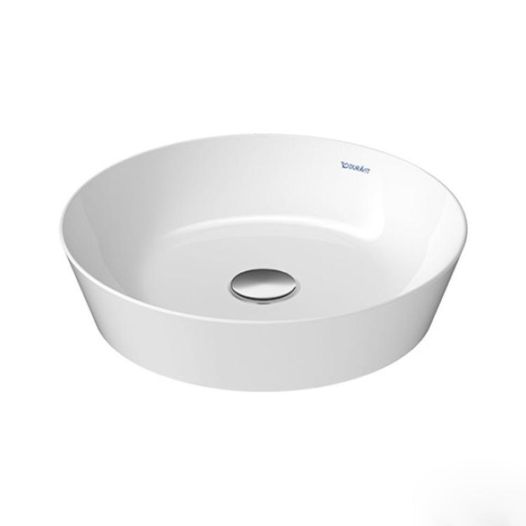 Duravit CAPE COD bacinella da appoggio soprapiano Ø 43 cm senza troppopieno, interno colore bianco finitura lucido, esterno colore bianco finitura opaco 2328432600