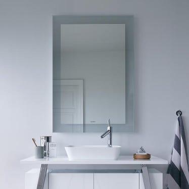 Duravit CAPE COD specchio con illuminazione 76.6 cm, luce led, colore grigio finitura argento specchiato CC964100000