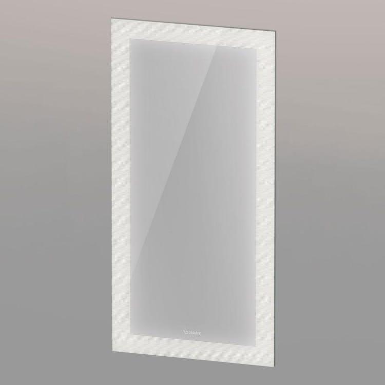 Duravit CAPE COD specchio con illuminazione 45 cm, luce led, colore grigio finitura argento specchiato CC96430000