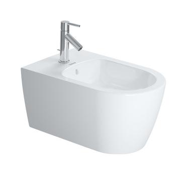 Duravit ME BY STARCK bidet sospeso P.57 cm con troppopieno, con bordo per rubinetteria, colore bianco finitura opaco 2288153200