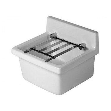 Duravit STARCK 3 lavatoio 48 cm senza foro per rubinetteria, senza troppopieno e senza bordo per rubinetteria, lato inferiore smaltato, WonderGliss, colore bianco 03134800001