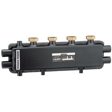 Caleffi SEPCOLL Separatore idraulico-collettore per impianti di riscaldamento 2+1 559221