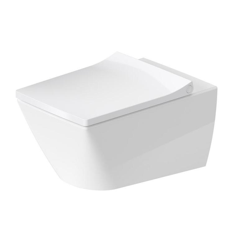 Duravit VIU vaso sospeso Rimless® a cacciata, senza brida, senza sedile, capacità di acqua di risciacquo 4,5 l, UWL classe 1, HygieneGlaze, colore bianco 2511092000