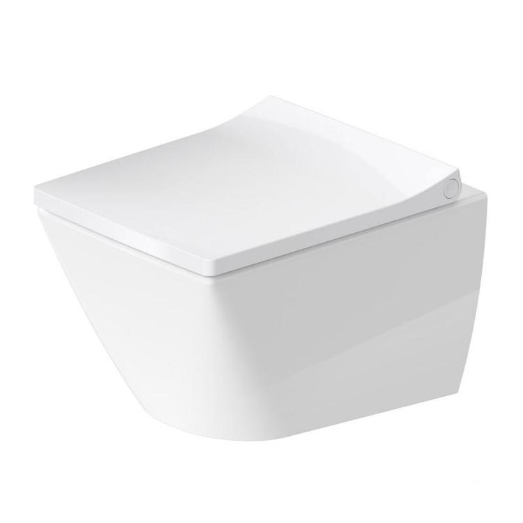 Duravit VIU vaso sospeso Compact Rimless® a cacciata, senza brida, senza sedile, capacità di acqua di risciacquo 4,5 l, UWL classe 1, colore bianco 2573090000