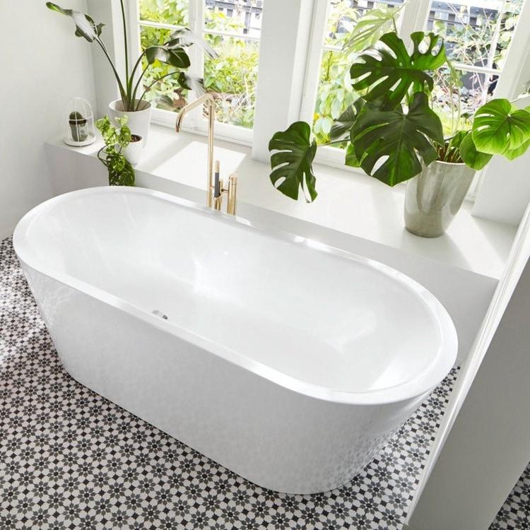 Kaldewei MEISTERSTÜCK CLASSIC DUO OVAL vasca da bagno 170x75 cm in acciaio smaltato con colonna di scarico e troppopieno KA 4002, colore bianco  202940750001