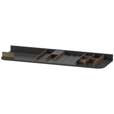 Duravit Inserto per cassetti sottolavabo per elementi di larghezza 130 cm, senza scasso per il sifone, finitura noce massello UV975307777