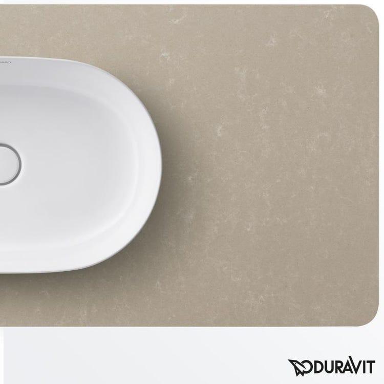 Duravit LUV consolle 138 cm, con 1 taglio per lavabo, per basi sottolavabo con consolle, finitura quarzo ricomposto sabbia LU946602525