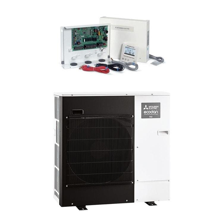 Mitsubishi PACKAGED Sistema composto da pompa di calore Inverter ECODAN 5 kW con centralina FTC6 PUZ-WM50VHA+PAC-IF071B-E