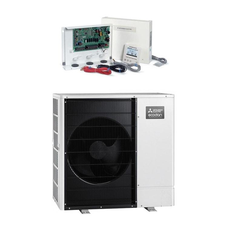 Mitsubishi PACKAGED Sistema composto da pompa di calore Inverter ECODAN 11.2 kW con centralina FTC6 PUZ-WM112VAA+PAC-IF071B-E