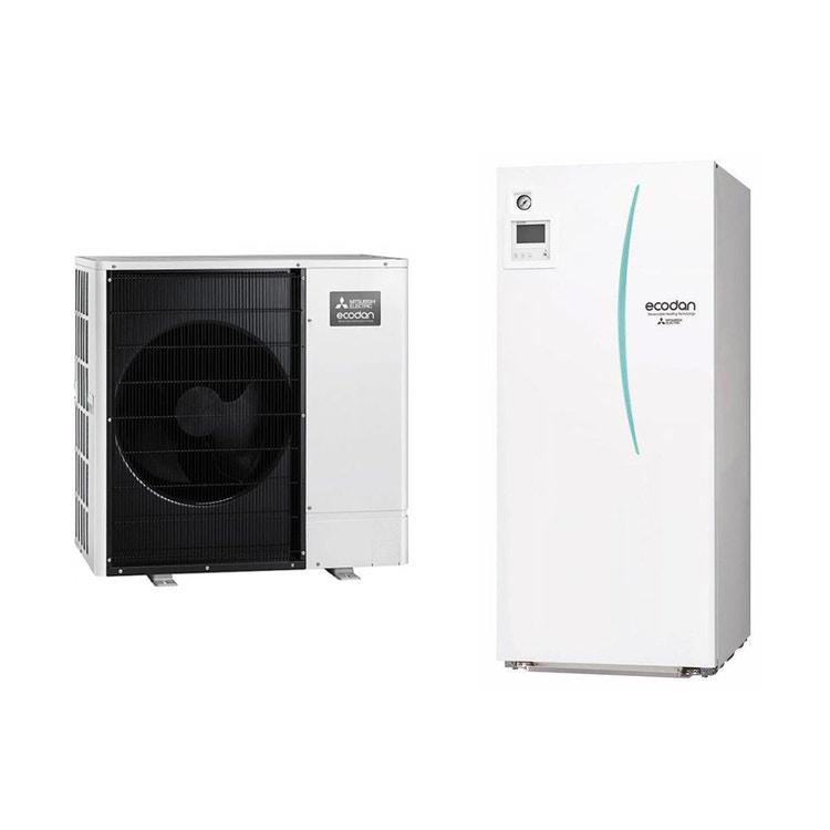 Mitsubishi SPLIT Sistema idronico composto da pompa di calore Inverter ECODAN 8 kW con HYDROTANK SMALL reversibile 170 litri PUHZ-SW75VAA+ERST17D-VM2D