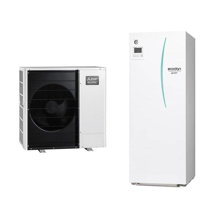 Mitsubishi PACKAGED R32 Sistema idronico composto da pompa di calore Inverter ECODAN 11.2 kW con HYDROTANK reversibile 200 litri PUZ-WM112VAA+ERPT20X-VM2D