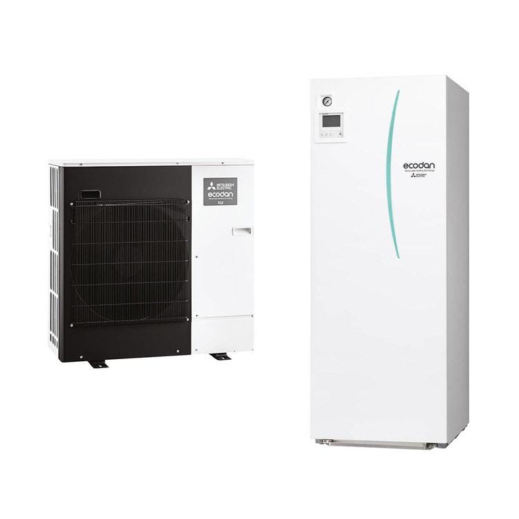 Mitsubishi PACKAGED R32 Sistema idronico composto da pompa di calore Inverter ECODAN 5 kW con HYDROTANK reversibile 200 litri PUZ-WM50VHA+ERPT20X-VM2D