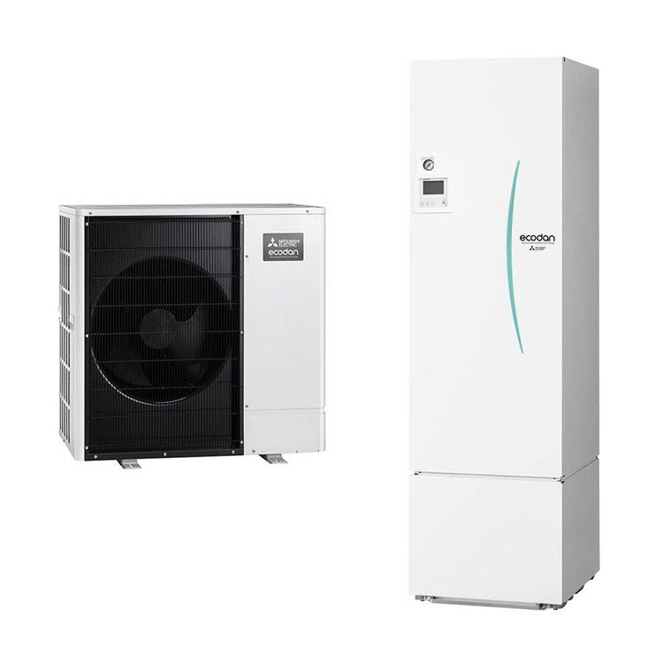 Mitsubishi PACKAGED R32 Sistema idronico composto da pompa di calore Inverter ECODAN 8.5 kW con HYDROTANK reversibile 300 litri PUZ-WM85VAA+ERPT30X-VM2ED