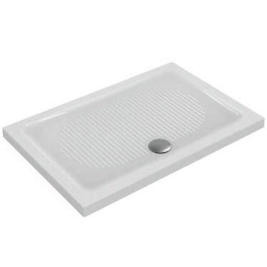 Ideal Standard CONNECT piatto doccia rettangolare L.120 P.80 cm, per installazione sopra o filo pavimento, colore bianco T267901