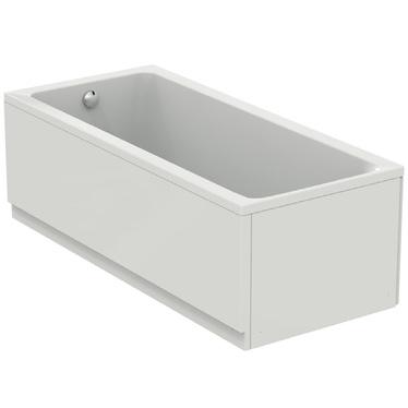 Ideal Standard CONNECT AIR vasca L.180 P.80 cm rettangolare, con telaio, colonna e pannelli, colore bianco T362301