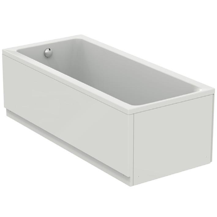 Immagine di Ideal Standard CONNECT AIR vasca L.180 P.80 cm rettangolare, con telaio, colonna e pannelli, colore bianco T362301