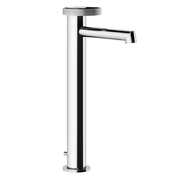 Gessi ANELLO miscelatore lavabo H.84 cm, bocca corta, con scarico e con flessibili di collegamento, finitura copper PVD 63303#030